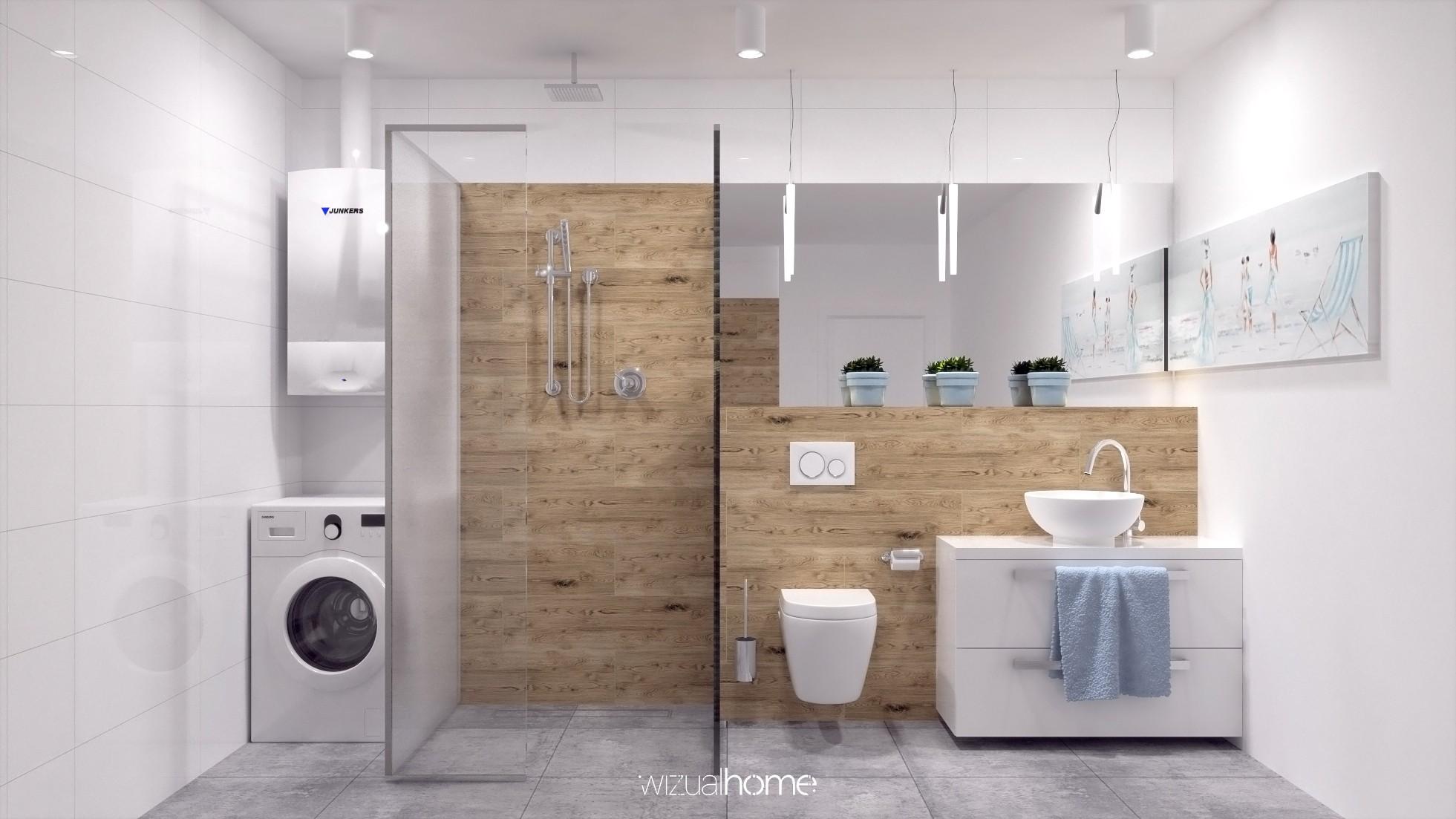 Idealnie zaprojektowana mała łazienka.
