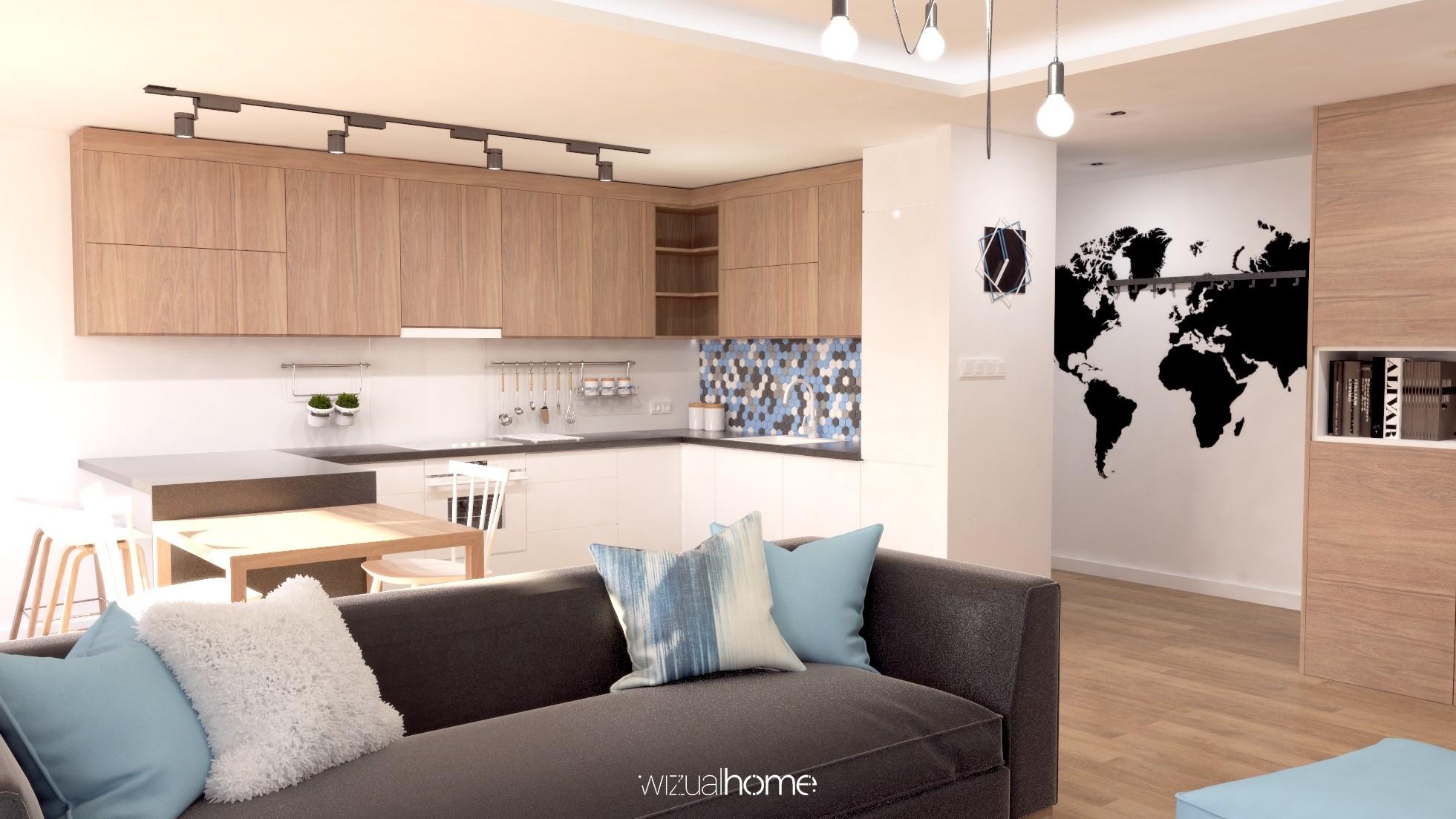 Projekt mieszkania wstylu nowoczesnym.