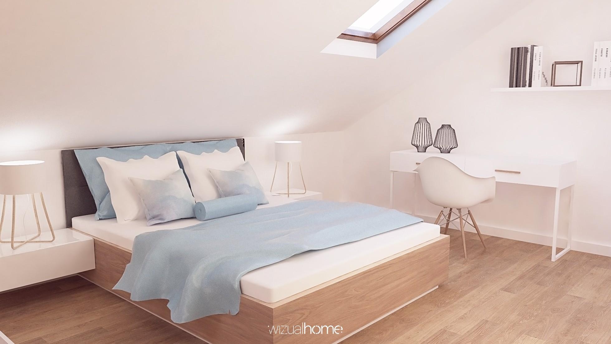 Sypialnia zaprojektowania w nowoczesnym stylu