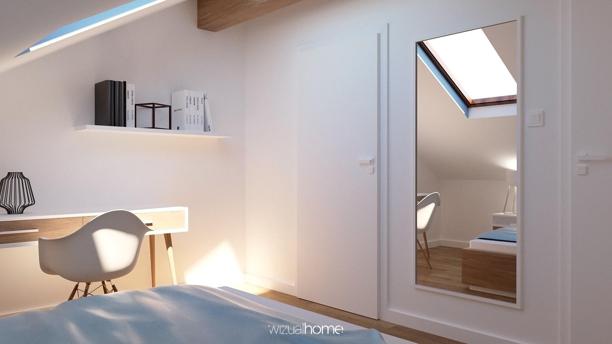 Projekt sypialni na poddaszu w mieszkaniu w Opolu
