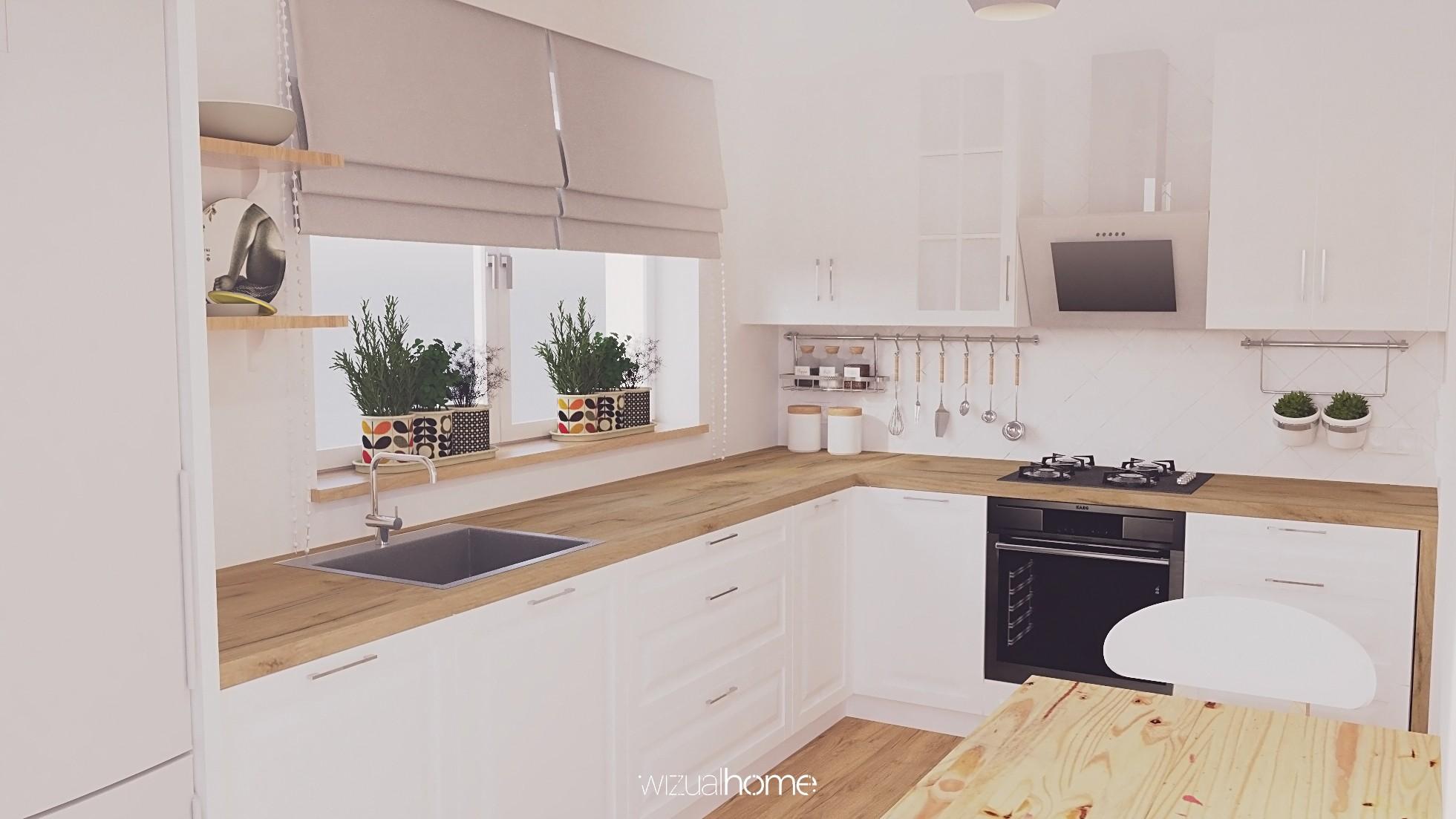 Projekt nowoczesnej kuchni w domku jednorodzinnym