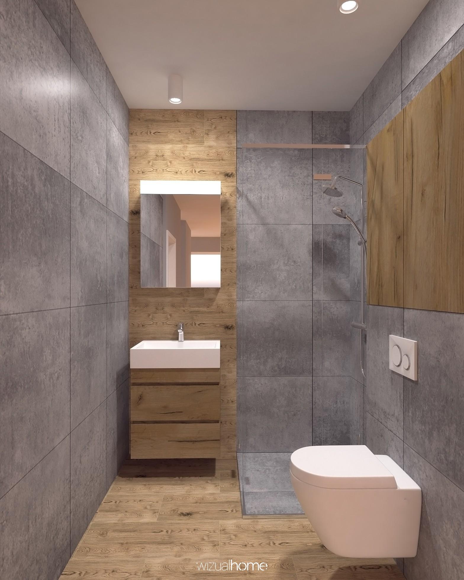 Łazienka wraz z toaletą w domku jednorodzinnym