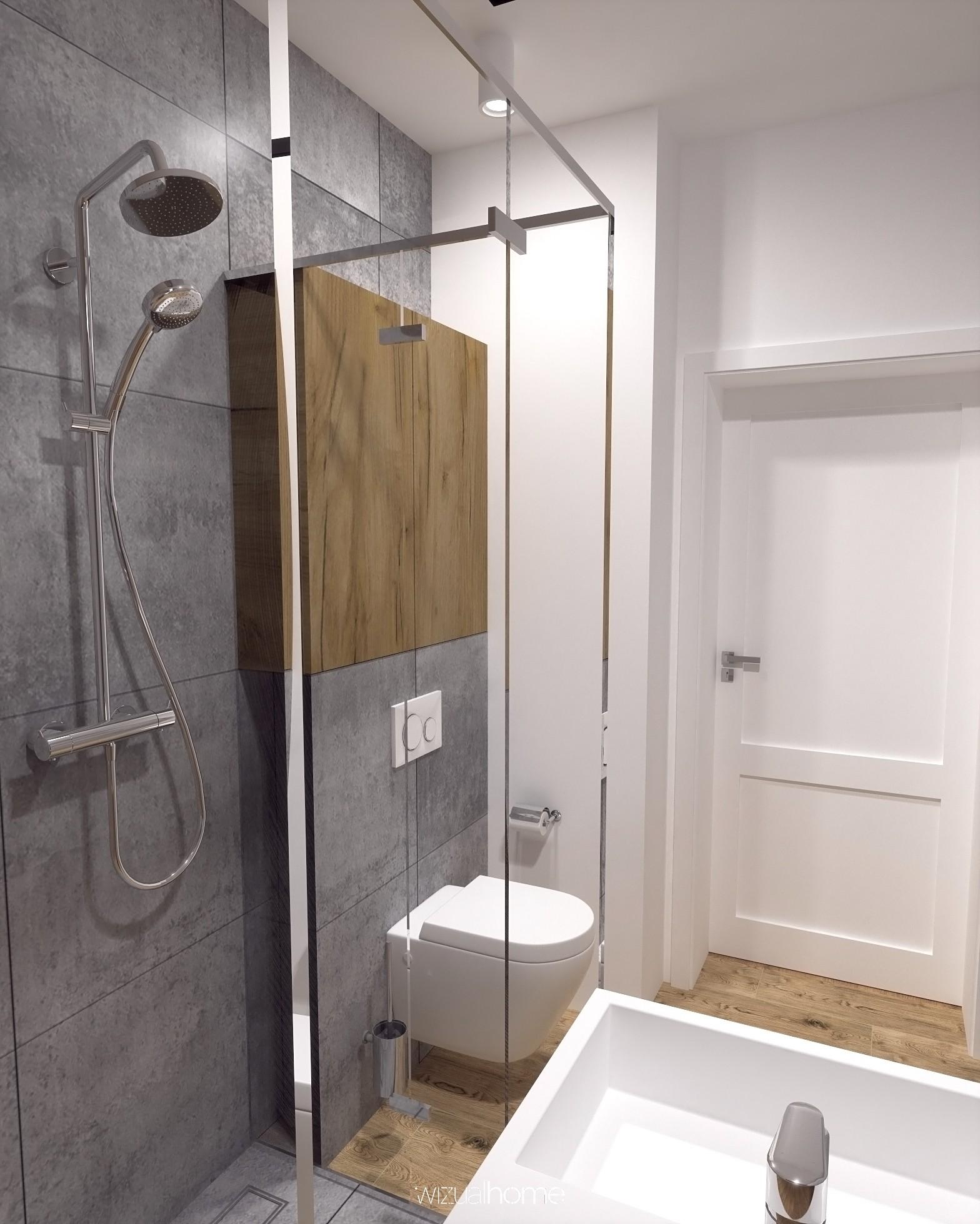 Projekt małej łazienki w domku jednorodzinnym