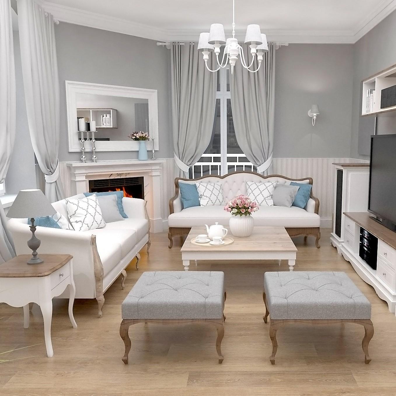 Projekt stylowej sypialni wkamiennicy.