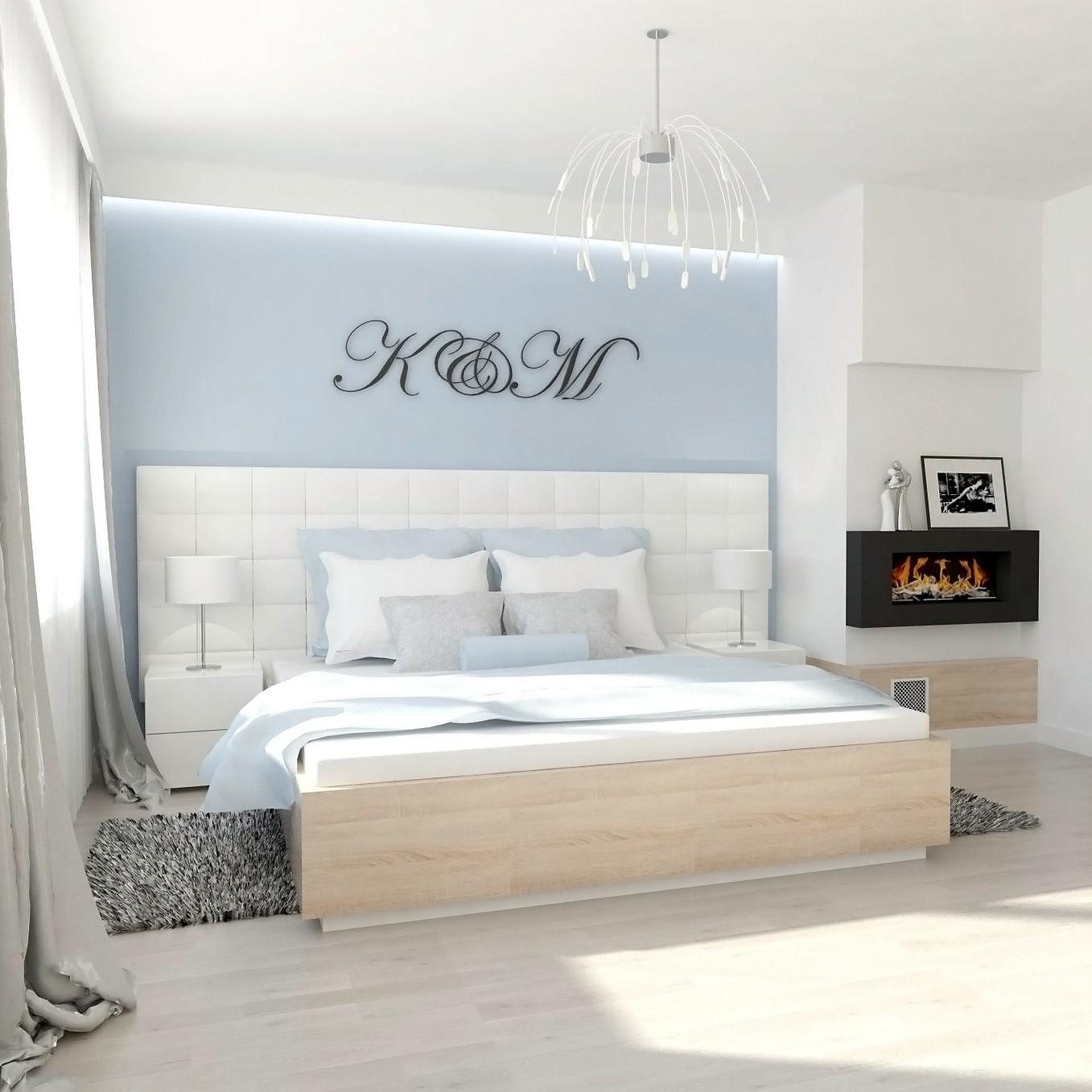 Projekt sypialni z garderobą.