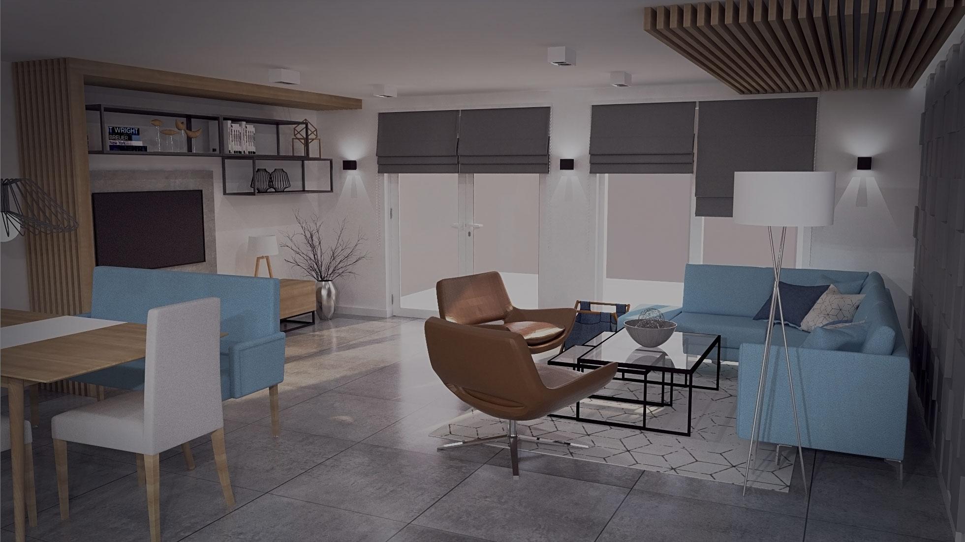 Wizualizacja mieszkania w zabudowie szeregowej (Köln, Niemcy)